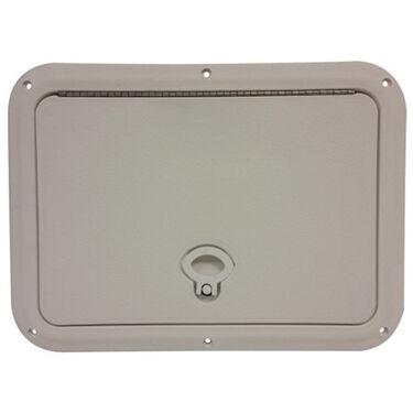 """DPI Marine DPF White Flush Series Hatch Door, 11"""" x 15"""" O.D. frame"""