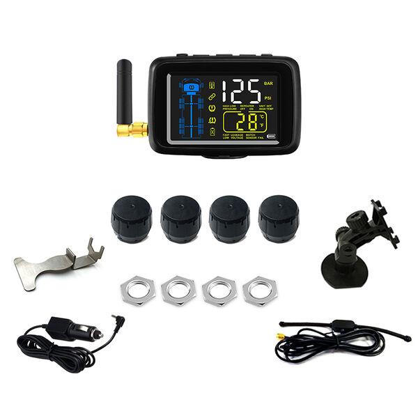 TTILifes U901TP Cap Sensor Tire Pressure Monitoring System Base Kit with Four Sensors and Color Monitor
