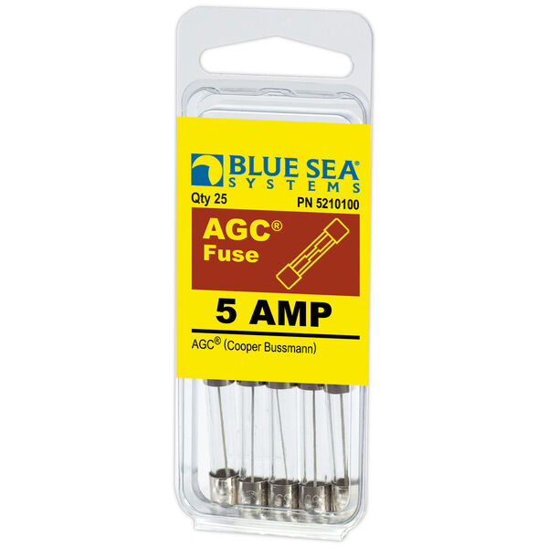 Blue Sea Systems 5A AGC Fuse (25 Pack)