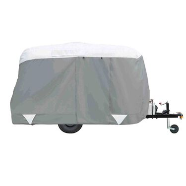 Classic Accessories PolyPRO 3, Deluxe Teardrop Trailer Cover, Up to 8'