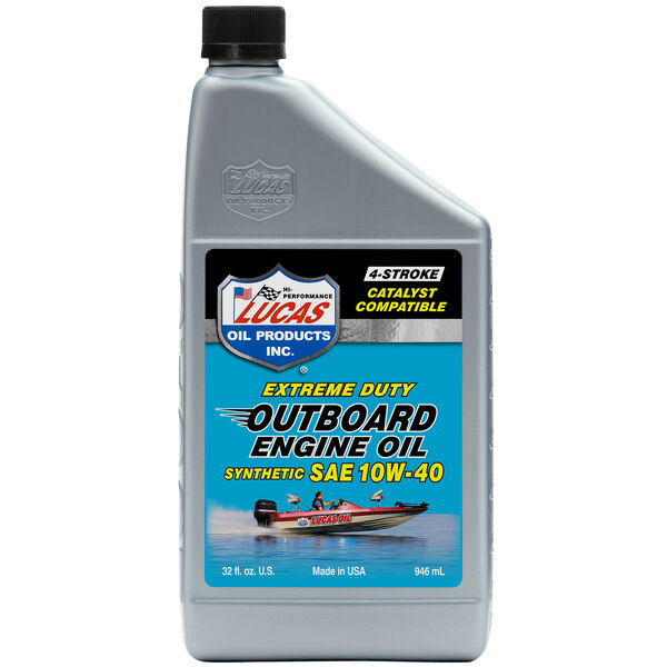 Lucas Oil Synthetic SAE 10W-40 Outboard Engine Oil, Quart