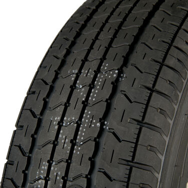 Goodyear Endurance ST215/75 R 14 Radial Trailer Tire, 5-Lug Chrome Modular Rim