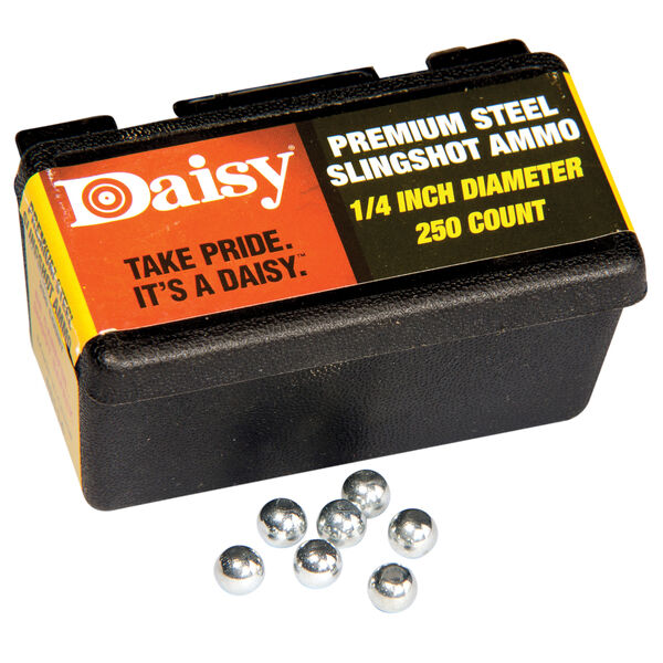 Daisy PowerLine 1/4-Inch Steel Slingshot Ammo, 250-count