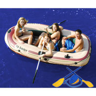 Solstice Voyager 4-Person Inflatable Boat Outfit
