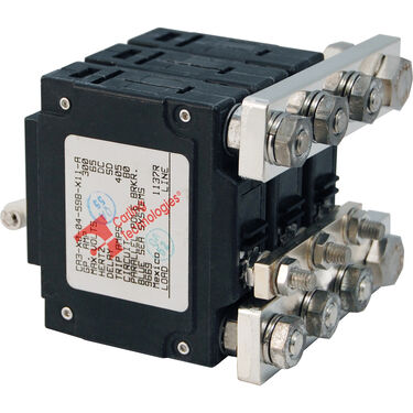 Blue Sea Systems C-Series Toggle Switch Circuit Breaker, Triple Pole 300 Amp