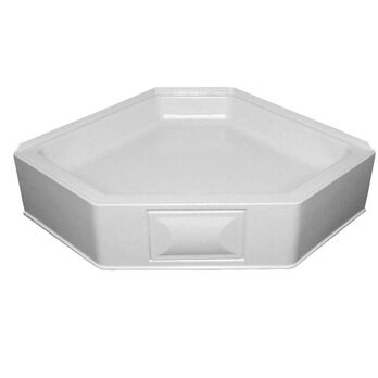 """34"""" x 34"""" Neo Hex Pan with 5"""" Apron - White"""