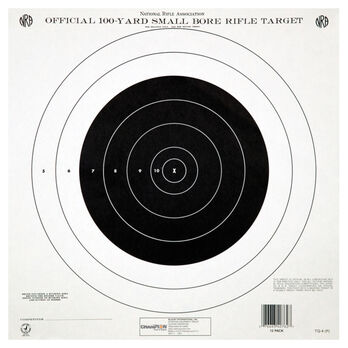 Champion Target 100 Yard Single Bull Official NRA Targets, Paper, 12-Pack