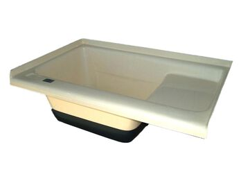 Sit In Step TUB Left Hand Drain TU500LH - Colonial White