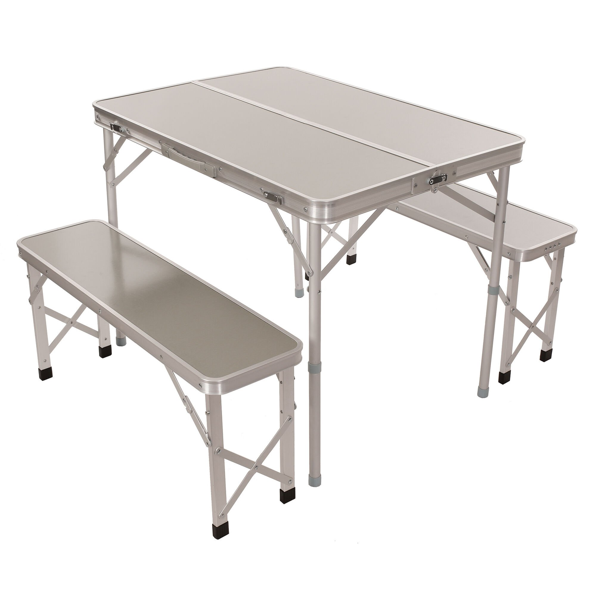 - Portable Folding Picnic Table With Benches 3-Piece Set Camping World