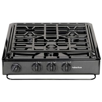 3-Conventional Burners, Slide-In Cooktop