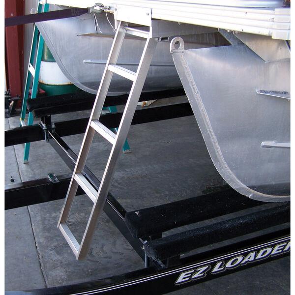 Under Deck 4-Step Pontoon Boat Ladder For Flat Front Decks