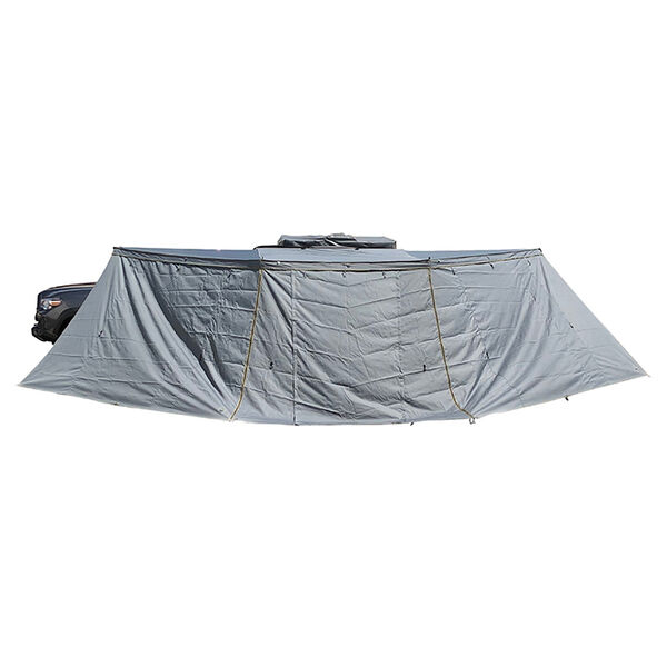 Nomadic Awning 180 Driver Side Installation with Brackets and Side Walls