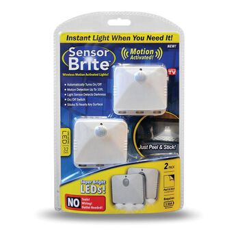 Sensor Brite Wireless Motion Activated Lights, 2-pack