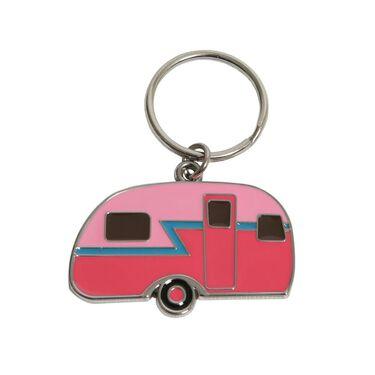 Pink Retro Camper Keychain