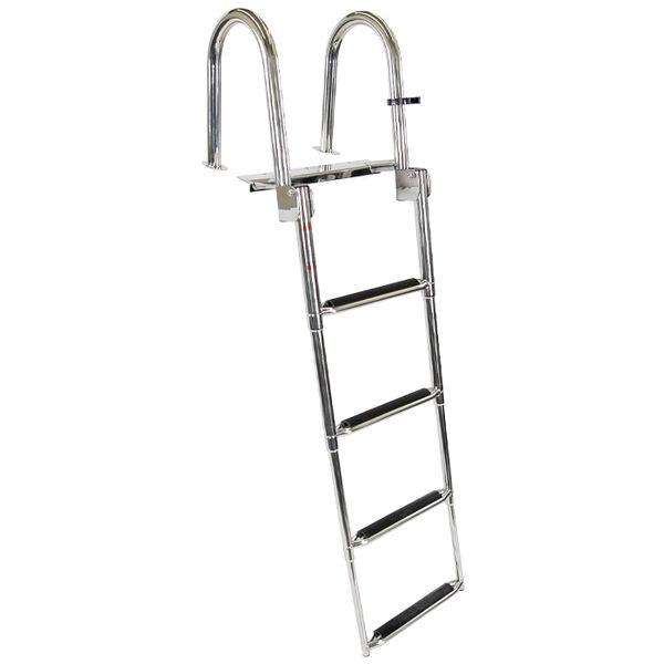 Overton's Top Mounted 4 Step Stainless Steel Swim Platform Ladder