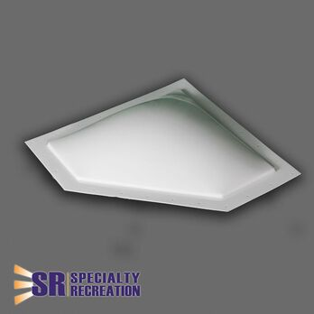 "Neo Angle Thermoformed Polycarbonate RV Skylight, 24"" x 12"" White"