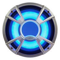 "Clarion CMQ2512WL 10"" 4-Ohm Subwoofer With Blue LED Lighting"