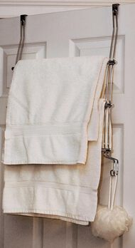 Over Door 3 Bar Towel Rack - Chrome