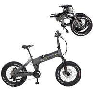 """QuietKat Bandit 750-Watt Electric Folding Mountain Bike 16"""", Charcoal"""