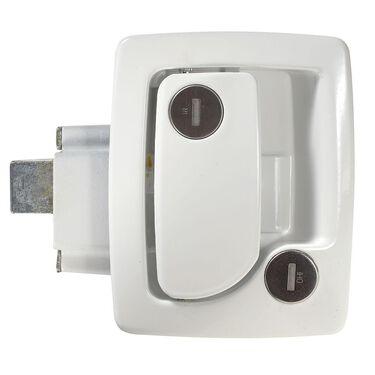 Travel Trailer Entrance Door Locks with Deadbolt, White