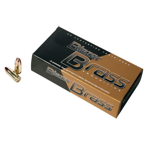 Blazer Brass Ammunition, 50-Rounds, 9MM Luger, 115-gr., FMJ