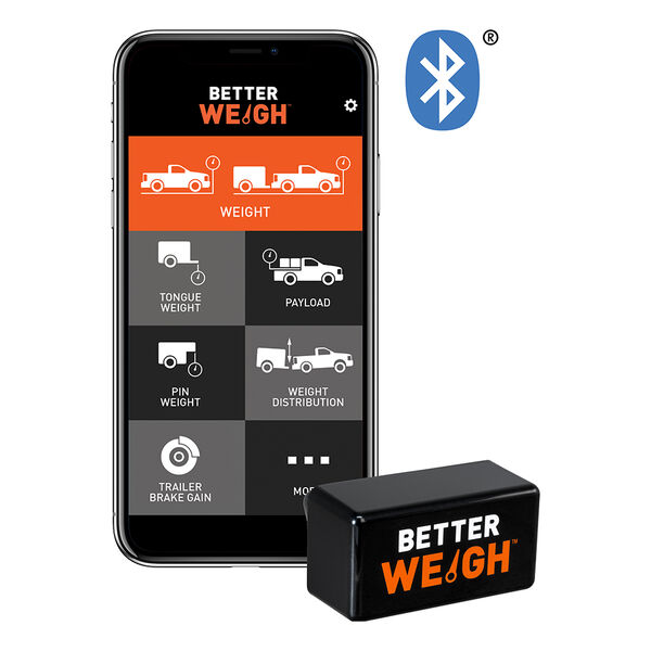 CURT BetterWeigh Mobile Towing Scale with TowSense Technology