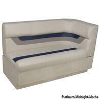 Toonmate Designer Pontoon Left-Side Corner Couch, Platinum