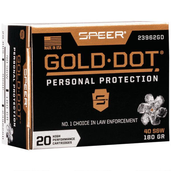 Speer Gold Dot Personal Protection Ammo, .40 S&W