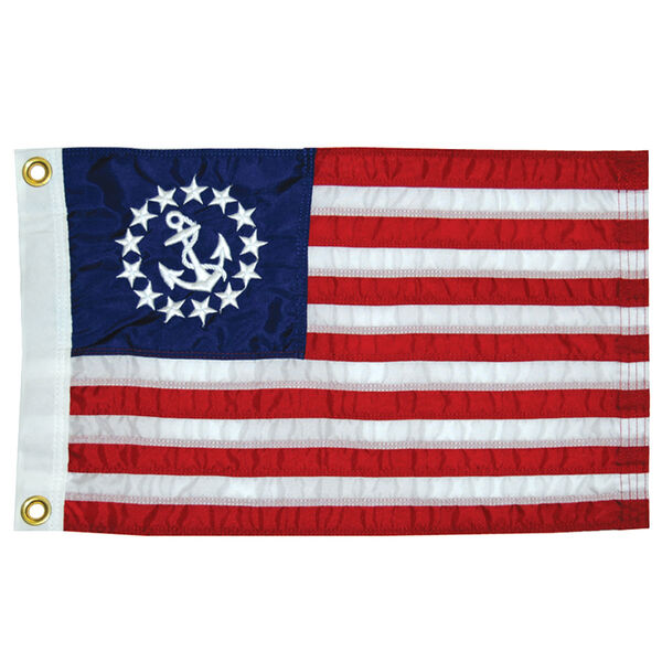 """Sewn US Yacht Ensign, 20"""" x 30"""""""