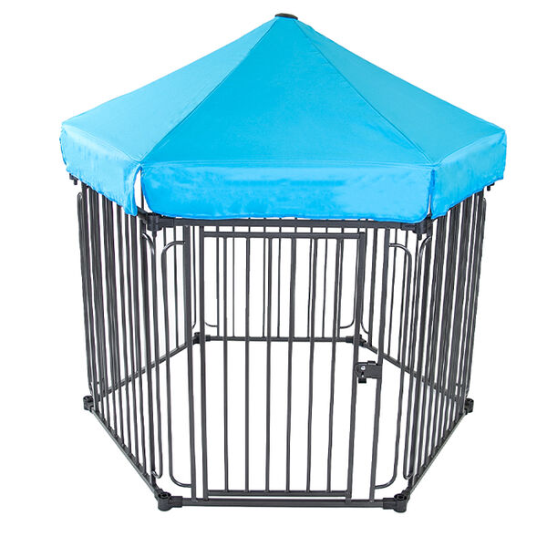 Portable Pet Containment Fence with Cover