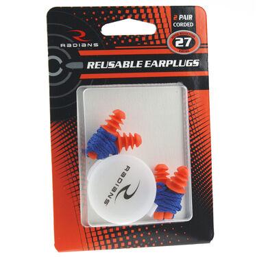 Radians Reusable Corded Earplugs, 2-Pack