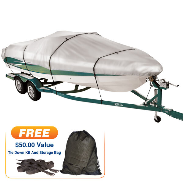 "Covermate Imperial 300 V-Hull Outboard Wide Boat Cover, 19'5"" max. length"