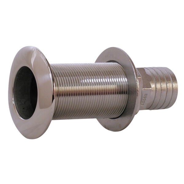 "Whitecap Stainless Steel Thru-Hull Fitting With Barb For 1-1/8"" Hose"