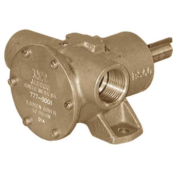 Jabsco Pulley Driven Nitrile Impeller Pump, 23 GPM