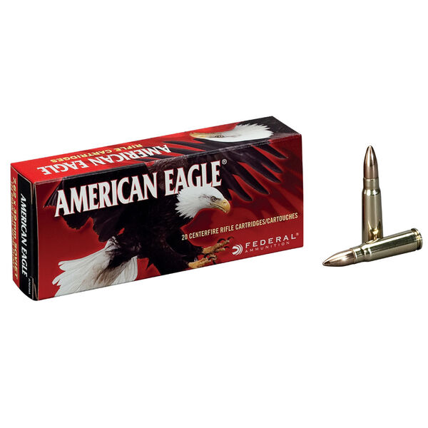 American Eagle Rifle Ammunition, .308 Win, 150-gr., FMJBT, 20Rds