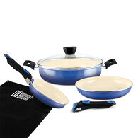 Robert Irvine 7-Piece Cookware Set, Blue