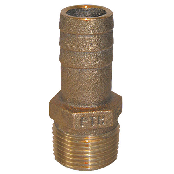 Groco Bronze Pipe-To-Hose Adapter - 1/2'' Pipe 1/2'' Or 5/8'' Hose