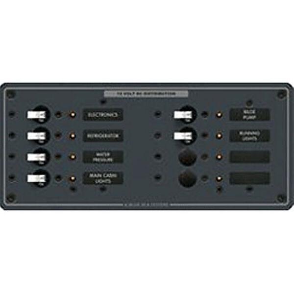 Blue Sea 12/24V DC Branch Circuit Breaker Panel, Model 8385