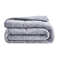"""Dream Theory Machine-Washable Velvet 15-lb. Weighted Throw Blanket, Gray, 48"""" x 72"""""""