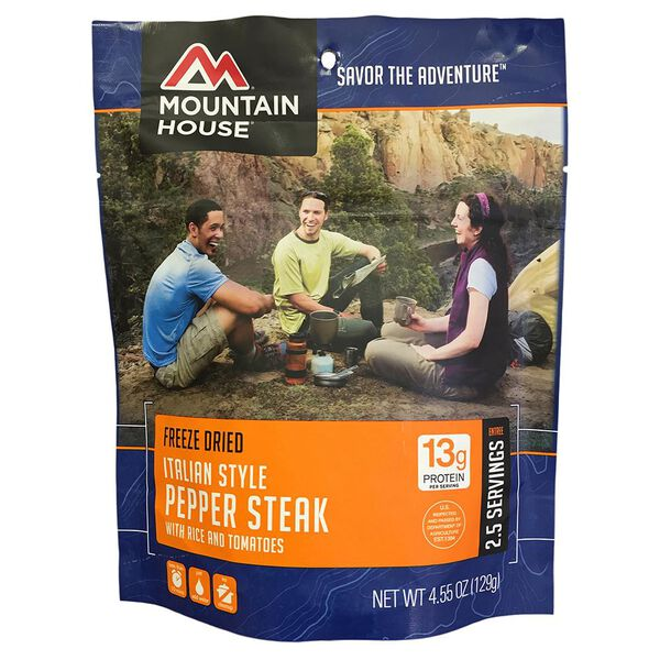 Mountain House Italian-Style Pepper Steak Freeze-Dried Meal Pouch