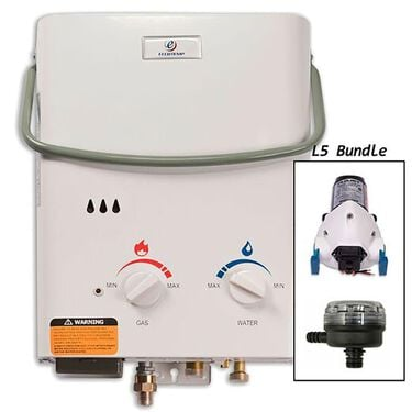 Eccotemp L5 Portable Tankless Water Heater with FloJet Pump and Strainer