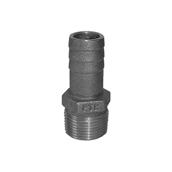 """Groco Bronze Pipe-To-Hose Adapter - 1-1/4"""" Pipe, 1-1/4"""" Hose"""