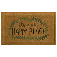 "Mohawk Home Happy Place Doormat, 18"" x 30"""