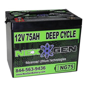 Nexgen 12V Lithium Ion Battery - 12V 75AH Replacement