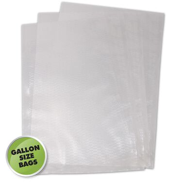 Weston Gallon Pre-Cut Vacuum Sealer Bags, 100-Pack