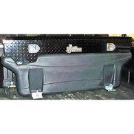 Compact Locking Black Diamond Plate Aluminum Toolbox
