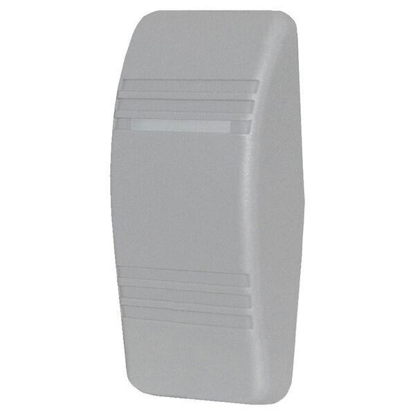 Blue Sea Contura Rocker Switch Actuator, solid w/no indicator light, gray