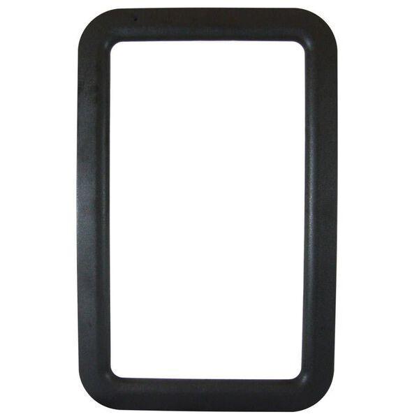 RV Entrance Door Window Frames - Exterior Black