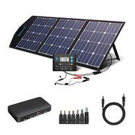 ACOPOWER All Black 120W Lightweight Mono Foldable Solar Suitcase