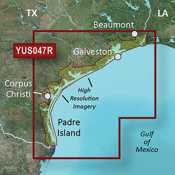Garmin BlueChart g2 HD Cartography, Texas Gulf Coast
